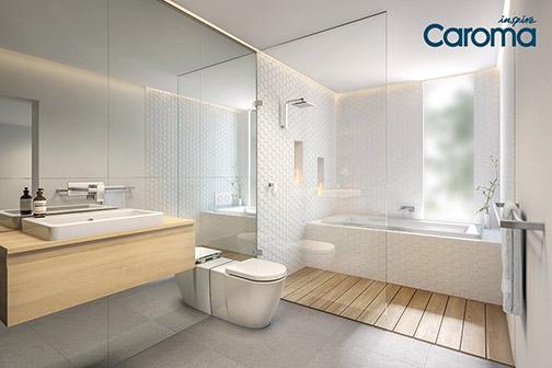 Bathroom inspiration with caroma harvey norman for Bathroom cabinets harvey norman