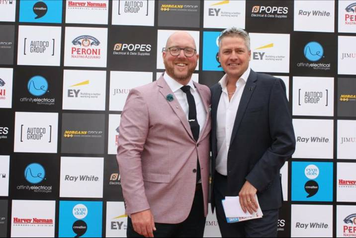 Gavin Pound from Harvey Norman Commercial and Phil O'Brien from Amalgamated Property Group