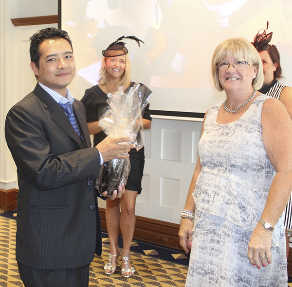 Winner of the Best Dressed Male, Jeevan Shrestha from Harvey Norman Commercial