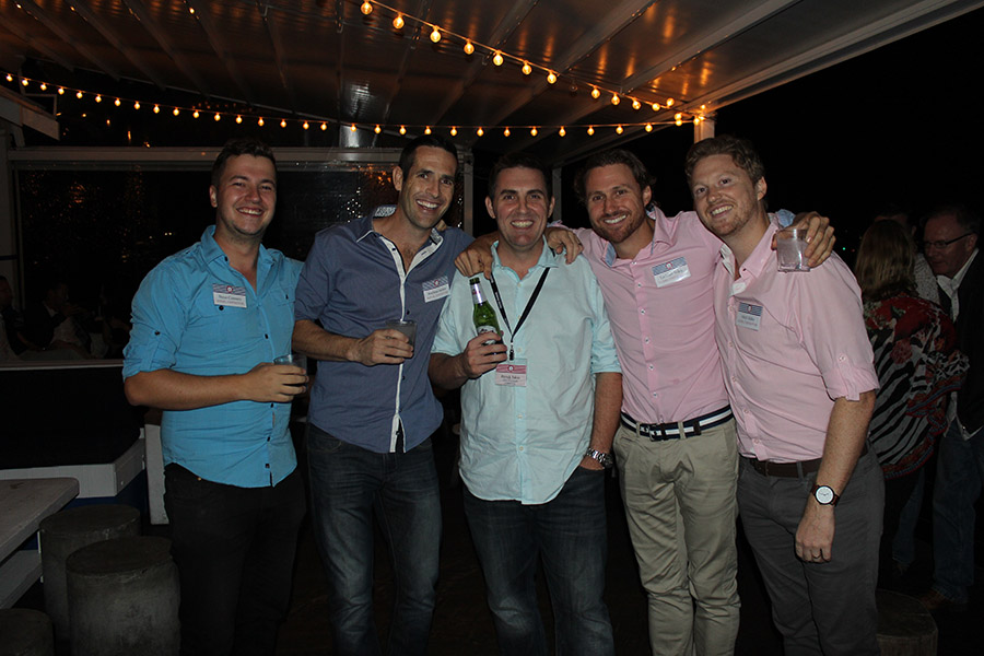 Steve, Andrew, Lachlan and Mitch from Gledhill Constructions and Patrick Tobin from Harvey Norman Commercial