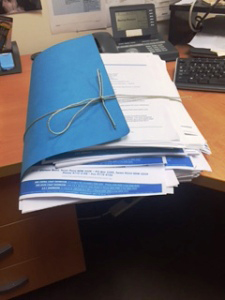 Not easy to get sponsorship into Australia  – this is Daniel's folder for immigration.