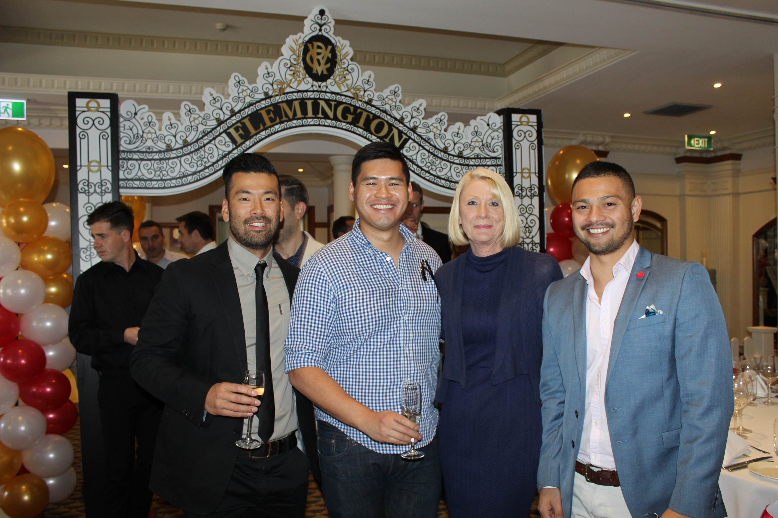 Ryu Ogino, Ben Ly, Herbee Gutierrez from Batesmart and Wendy Scott from Harvey Norman Commercial