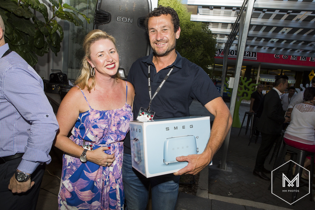 first-prize-winner-mark-oconnor-from-grand-pacific-homes-with-sally-robson-from-harvey-norman-commercial